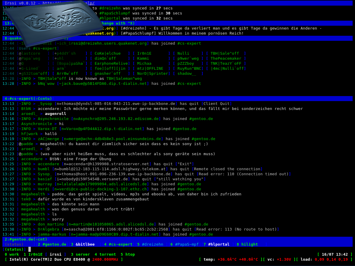 irssi theme greenbox